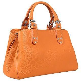 Soft Calf Leather Satchel Bag - Fontanelli
