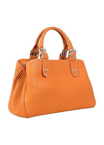 Soft Calf Leather Satchel Bag - Fontanelli
