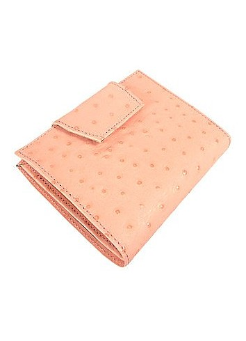 Ostrich-embossed Leather ID Wallet - Forzieri