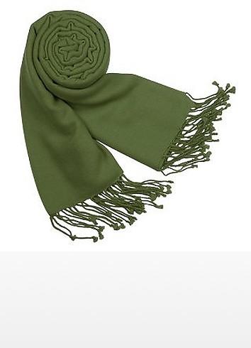 Solid Pashmina & Silk Fringed Shawl - Forzieri