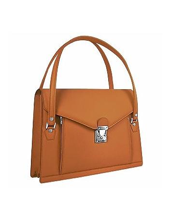 L.A.P.A. - Double Compartment Calf Leather Women's Briefcase