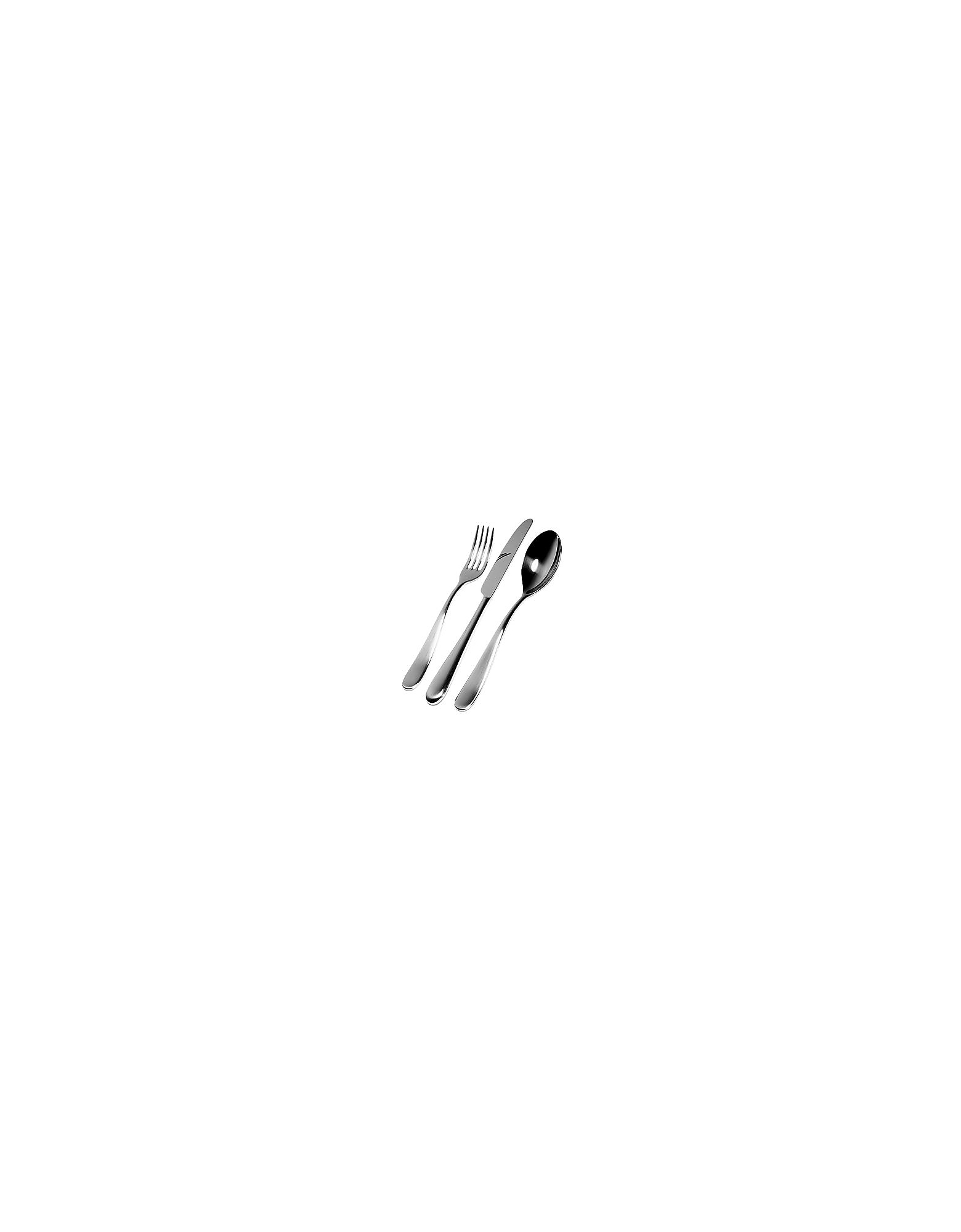 Alessi Kitchen & Dining, Nuovo Milano - Cutlery Set for 1 person (6 pc.)