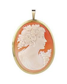 Woman Cornelian Cameo Pendant / Pin  - Del Gatto