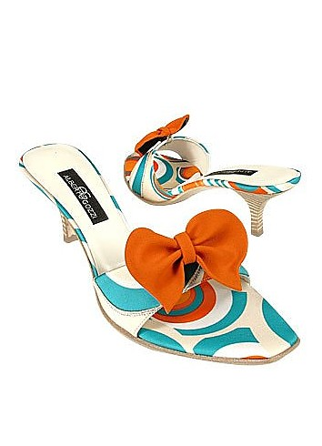Optical Sky Blue Slide w/removable Ribbon Shoes - Alberto Gozzi