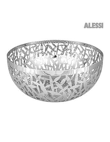Cactus Perforated Stainless Steel Fruit Bowl