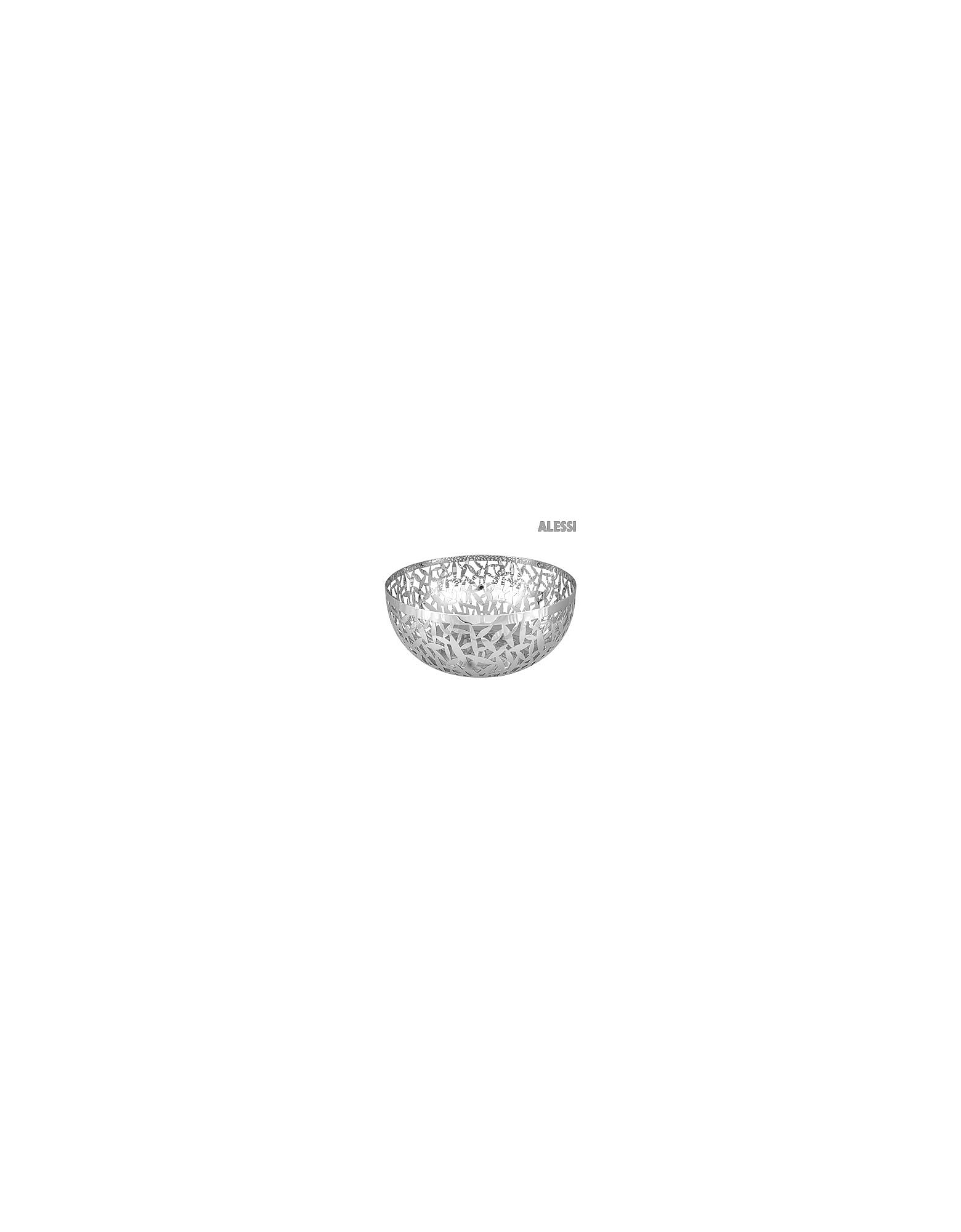 Alessi Designer Kitchen & Dining, Cactus Perforated Stainless Steel Fruit Bowl al38473-030-00