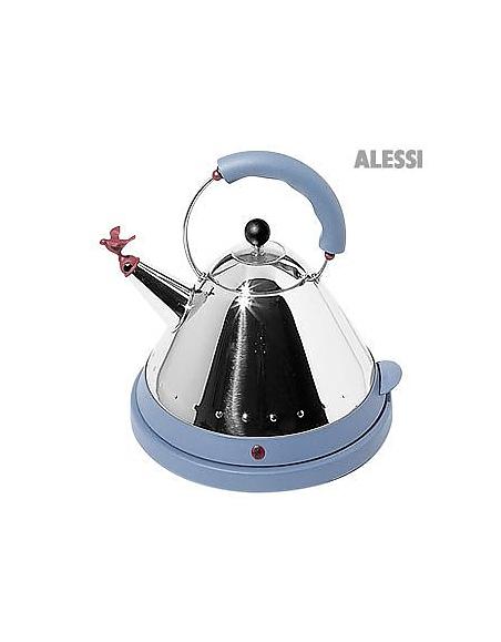 Alessi Schnurloser elektrischer Wasserkocher aus Edelstahl
