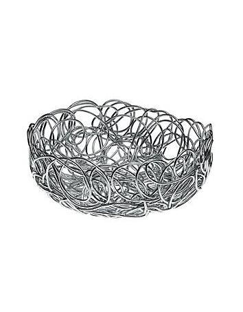 Alessi Nuvem -  Panier rond en fil d'aluminium anodisé