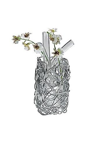 Nuvem - Anodized Aluminium Wire Vase  - Alessi