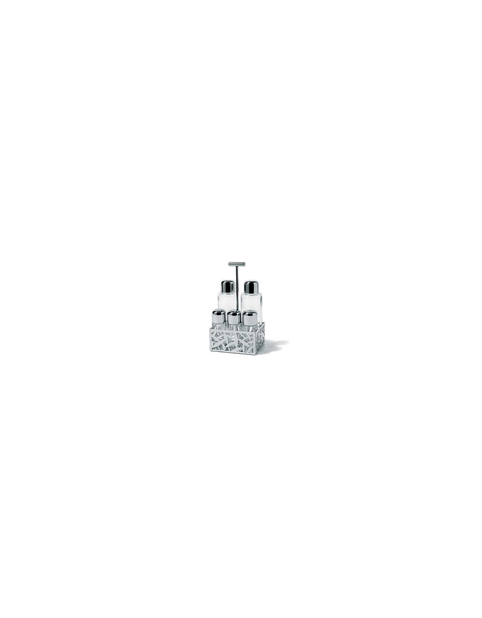 Alessi Kitchen & Dining, CACTUS! - Pierced Stainless Steel Condiment Set
