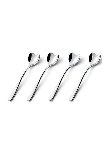 Set of 4 Stainless Steel Coffee Spoons - Alessi