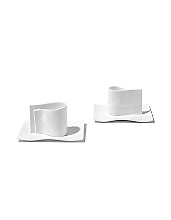 Alessi - E-Li-Li - Set of 2 Mocha Cups w/Saucers