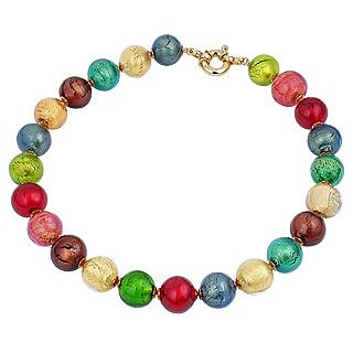 Giada Multicolor Murano Glass Bead Necklace - Antica Murrina