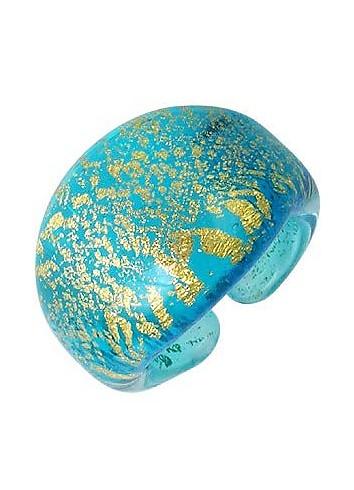 Laguna - Blue & Gold Murano Glass Ring - Antica Murrina