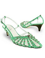 Lux-ID 208326 Mint Studded Strappy Leather Pump Shoes