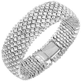 Silver-plated Crystal Bracelet - AZ Collection