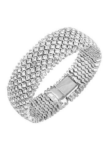 Silver-plated Crystal Bracelet - AZ Collection