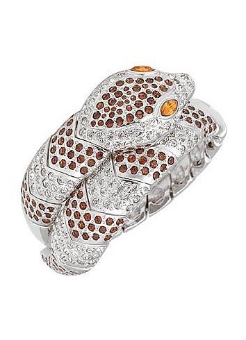 Streamlined Snake Cuff Bracelet - AZ Collection