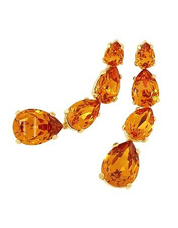 AZ Collection - Tangerine Dangle Earrings