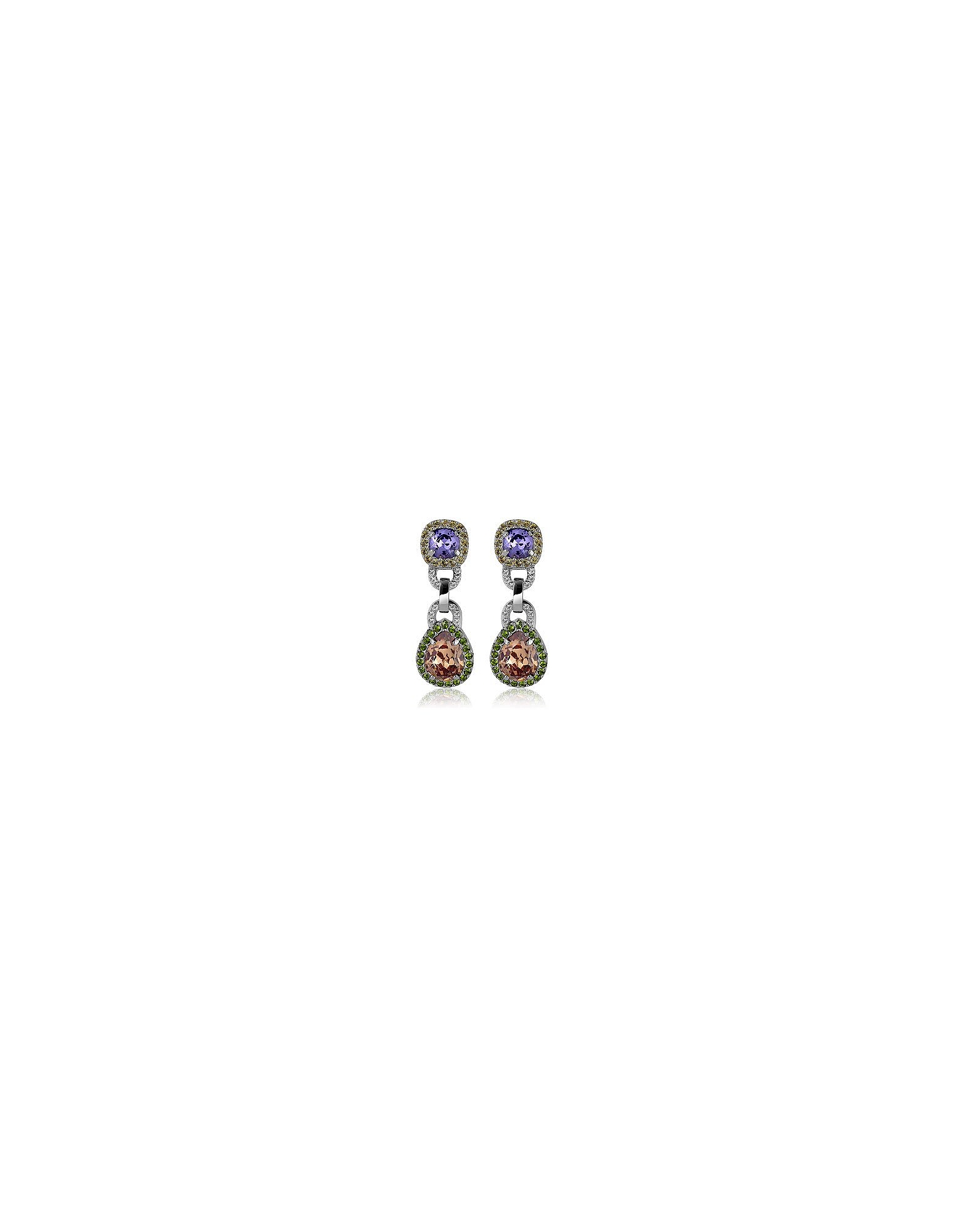Purple & Orange Clip-On Earrings