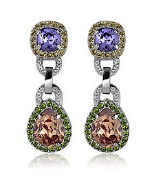 Purple & Orange Clip-On Earrings - AZ Collection