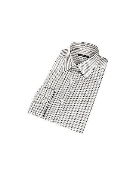 Foto Bagutta Camicia elegante in cotone a righe grigie Camicie