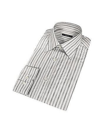 Bagutta Chemise coton à élégantes rayures grises