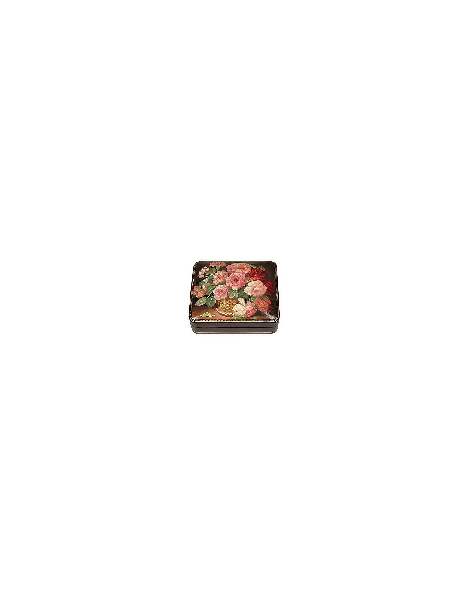 Bianchi Arte Jewelry Boxes, Flower Bouquet - Oil on Leather Jewelry Box
