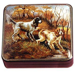 Bianchi Art Works  Setters - Oil on Leather Jewelry Box