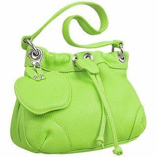 Foto der Handtasche Buti Ledertasche in Pistaziengruen mit zuziehbarem Verschluss