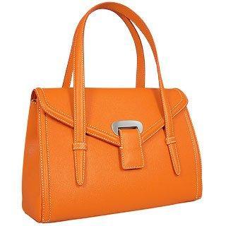 Foto der Handtasche Buti Orange Handtasche aus gepraegtem Leder