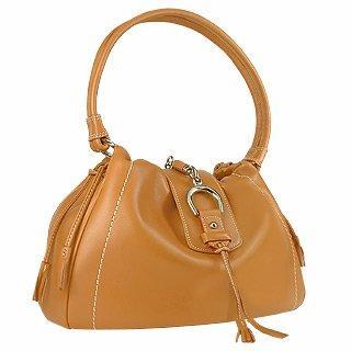 Foto der Handtasche Buti Weiche Kalbsleder Tasche in camel mit Trense
