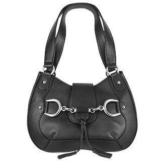 Foto der Handtasche Buti Italienische Kalbsledertasche in schwarz mit Trense