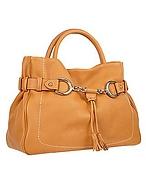 Buti Borsa due manici in pelle color cammello con dettaglio morsetto - buti - it.forzieri.com