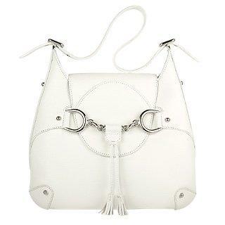 Foto der Handtasche Buti Italienische Lederhandtasche in weiss mit Trense