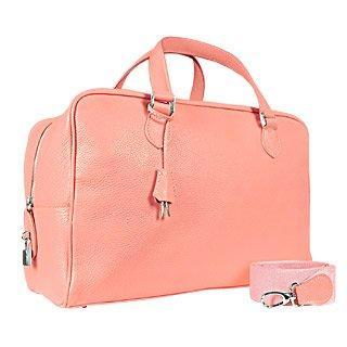 Buti Rosafarbene mittelgroße Reisetasche aus weichem Kalbsleder
