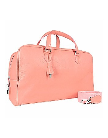 Buti - Pink Soft Calf Leather Large Travel Bag
