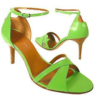 Green Crisscross Ankle-Strap Sandal Shoes - Caterina Lucchi