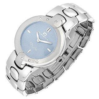 Dom Baiz  Psyche - Women's Baby Blue Dial Crystal and Stainless Steel Watch