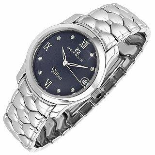 Dom Baiz  Althea - Women's Crystal & Stainless Steel Bracelet Date Watch