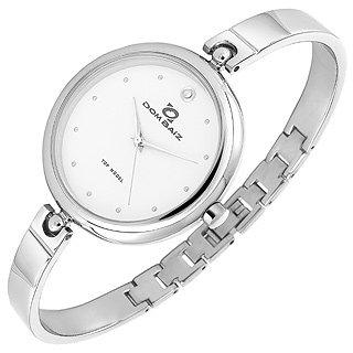Dom Baiz  Top Model - Women's White Stainless Steel Round Watch
