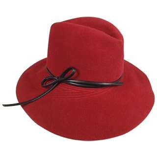 Del Moro Ladies' Felt 'Borsalino' Hat with Stitching Details :  stylish hat forzieri gifts