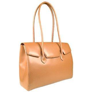 Foto der Handtasche Fontanelli Bronzefarbene Handtasche aus poliertem italienischen Leder