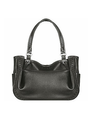 Fontanelli - Black Stitched Soft Leather Tote