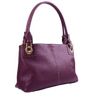 Foto der Handtasche Fontanelli Zwei in eins - purpurfarbene Ledertasche