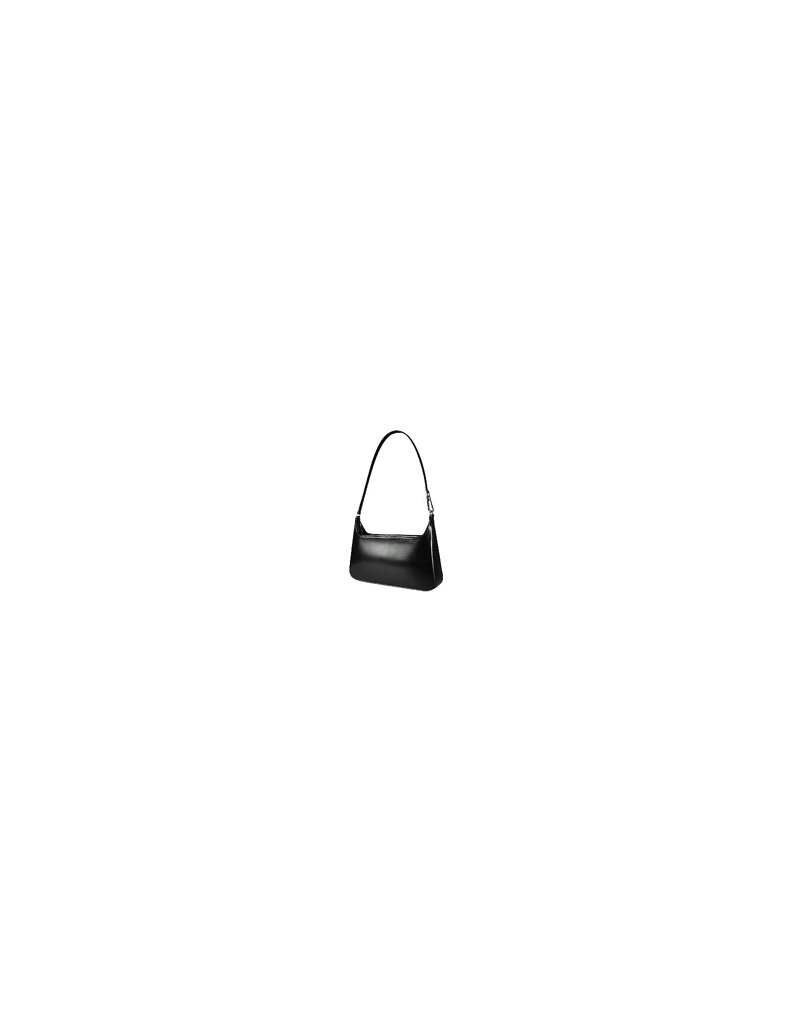 Fontanelli Designer Handbags, Classic Black Leather Handbag