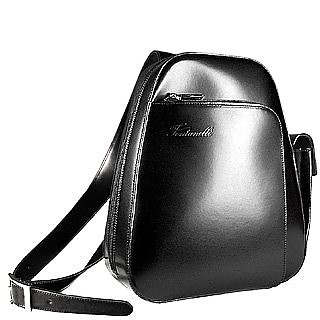 Single Strap Leather Backpack - Fontanelli