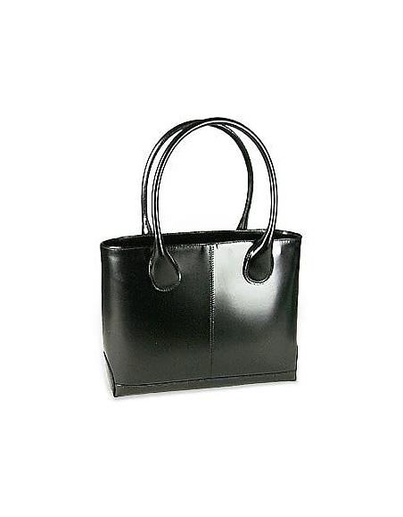 Fontanelli Handtasche aus poliertem italienischem Leder