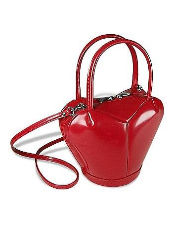 Fontanelli - Italian Polished Leather Heart Bag