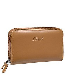 Tan Calf Leather Wallet - Fontanelli